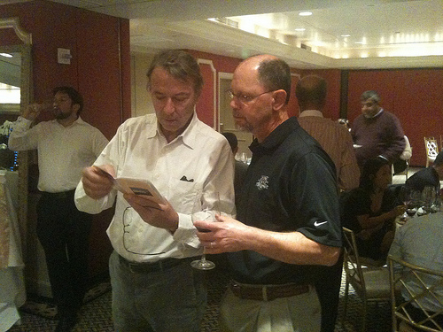 Yves Vatelot discuess Reignac with JJB customer Alan Rath
