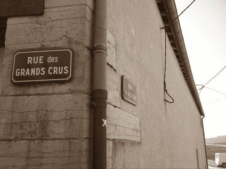 Street signs, Burgundy