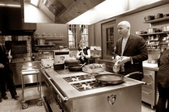 Bruno Borie in the First-Class Kitchen