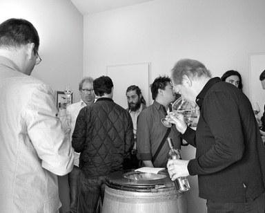 Jeffrey Davies (r) tasting with the JJB crew