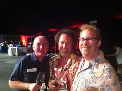 Oz Clarke, Matt Donaldson of Pegasus Bay and me