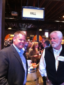 Mike Reynolds of Hall (left) and Rennick Harris of NVG