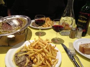 Steak frites at l'Entrecote