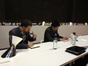 Sampling dozens of wines from each appellation at a marathon tasting